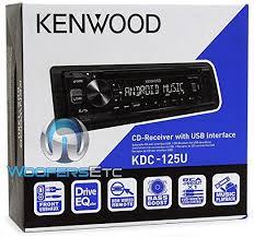 amazon com kenwood kdc 125u cd receiver usb aux cache 3 5mm 6ft Kenwood KDC Mp342u Wiring Harness at Kenwood Kdc 125u Wiring Diagram