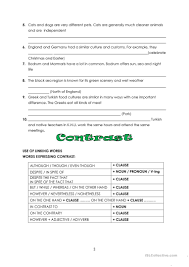 compare and contrast essay intro worksheet esl printable  compare and contrast essay intro full screen