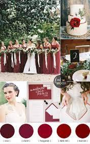 red wedding colours burgundy claret