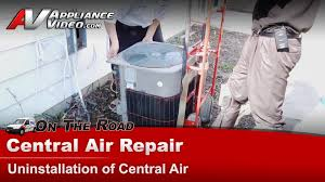replacing central air unit. Brilliant Replacing Central Air Conditioner Repair  How To Replace And Repair A  Unit YouTube Inside Replacing U