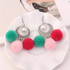 women s chandelier earrings drop earrings imitation pearl green pink rainbow 6201953 2018 5 99