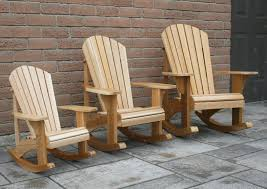 these three chairs are reduced from the original adirondack rocking chair but constructed from 5 8 1 5cm cedar fence boards with brass s and
