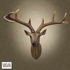 ZAMTAC Head Arts Crafts The Deer Head Hanging ... - Amazon.com