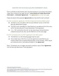 Template: Nda Template Word Contract Agreement Between Sample Of ...