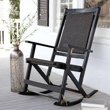 modern black outdoor rocking chairs