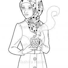 Coloring Islam Fresh Islamic Coloring Page Featuring A Cute Hijabi