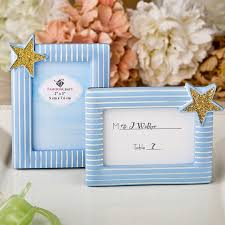 fashioncraft blue and white striped gold star frame place card holder personalized gifts and party favors