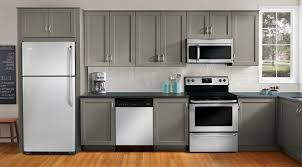 Gray And White Kitchen Designs Kitchen Remodel With White Appliances Home Design Ideas