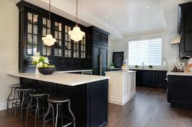 Dark Cabinets Light Countertop Houzz Within White Prepare 0