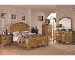 emily bedroom set light oak:  coaster emily bedroom set in light oak co set