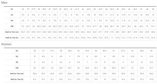 Trek Womens Size Chart Sizing Charts Probike Co Th