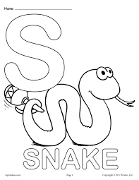 Small Picture Letter S Coloring Page Miakenasnet