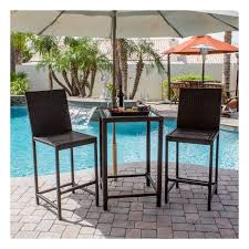 bistro patio set wicker dining set