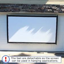 portable projector screen indoor