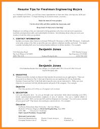 Resume For College Freshmen 14 Sample College Resumes Freshman