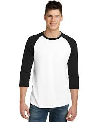 District Dt6210 Mens Very Important Tee 3 4 Sleeve Raglan T