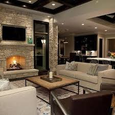 stone fireplace wall with flatscreen tv niche fireplace lighting tv r27 lighting
