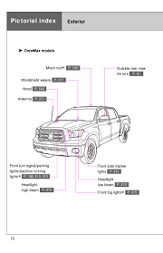 2012 Toyota Tundra Pictorial Index
