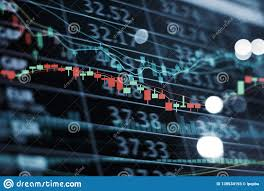 Chart Display Led Display Stock Market Numbers And Graph Stock Market