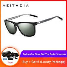 <b>VEITHDIA Unisex Retro Aluminum</b> TR90 Polarized Sunglasses 6108