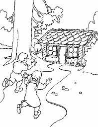 Kleurennu Hans En Grietje Naar Het Snoephuis Kleurplaten