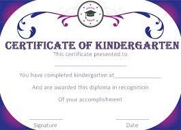 Preschool Graduation Certificate Template Yupar Magdalene