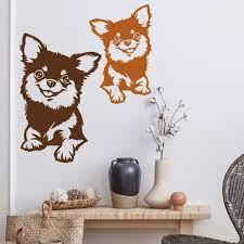 wall decal dog chihuahua sister wall