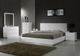 white lacquered furniture. J\u0026M Furniture Naples Modern White Lacquered Bedroom Set- King Size
