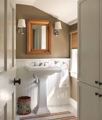 modern half bathroom. charming bathroom with half bath ideas and white pedestal sink plus wainscoting mirror modern .