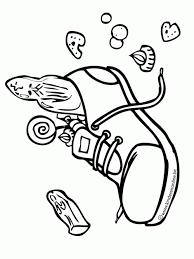 Kleurplaat Gevulde Schoen Sinterklaas Schoen Zetten Voor