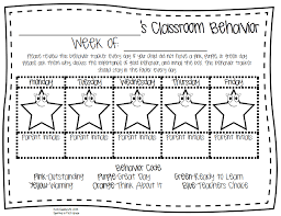 behavior chart template for first grade best behavior sticker  100 daily behavior chart template elp correlation guide