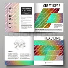 Annual Report Template Design Delectable Business Templates For Square Design Bi Fold Brochure Magazine