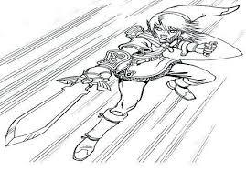 Link Legend Of Zelda Coloring Pages Raovat24hinfo