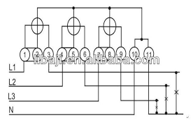 3 phase 4 wire energy meter connection diagram 3 3 phase 4 wire kwh meter wiring diagram images phase current on 3 phase 4 wire