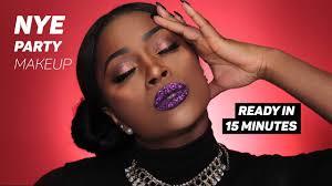 nye capodanno party makeup tutorial dark skin