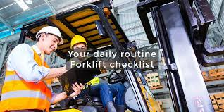 Image result for Daily checks of forklifts