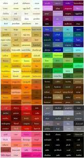 Color Chart With Names Color Chart In 2019 Colours Color Theory Paint Colors