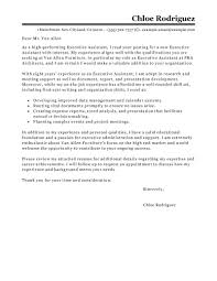 Cover Letter Cover Letter For Executive Assistant Resume Cover