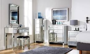 mirrored bedroom furniture also with a mirrored bedside table also