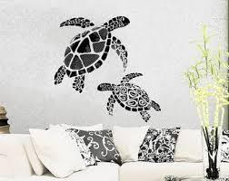 Sea <b>Turtle Wall Decal</b> Ocean Sea Animals Decals Wall <b>Vinyl Sticker</b> ...