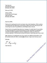Thank You Letter Format After Interview Wernerbusinesslaw Com