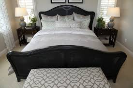 black furniture bedroom ideas. small bedroom with black wicker bed frame featuring a clamshell design furniture ideas c