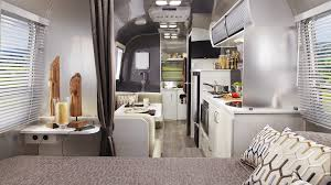 Travel trailers interior Sporttrek Curbed Floor Plans Sport Travel Trailers Airstream