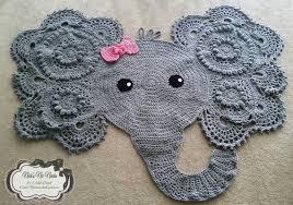 crochet elephant nursery rug elephant elephant rug baby