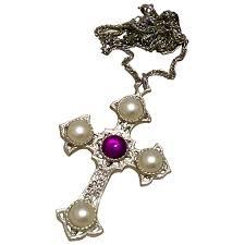 sarah coventry crusader cross pendant