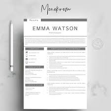 Modern 2020 Resume Template Resume Templates Design Modern Resume Template