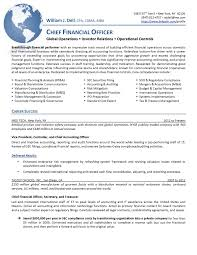 Resumes Cfo Resume Sample Matchboard Co Controllers And Treasurers