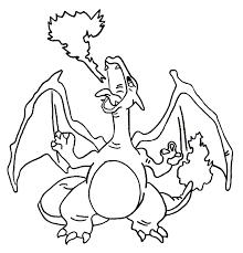 Kleurplaten Pokemon Charizard