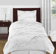 grey black and white marble 4pc twin twin xl bedding set by sweet jojo designs only 119 99