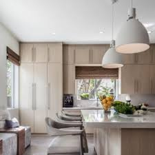 lighting a room. Cooking Up A Serene Palate In This Coconut Grove Kitchen. Bon Appetite!  #interiordesign Lighting Room